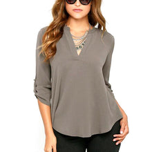 Serena V-Neck Chiffon Top (More Colors Available) - Rated Star