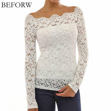 Lace Long Sleeve Blouse (More Colors Available) - Rated Star