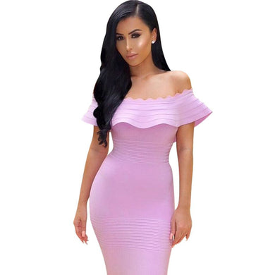 Bandage Off the Shoulder Strapless Dress (More Colors Available)