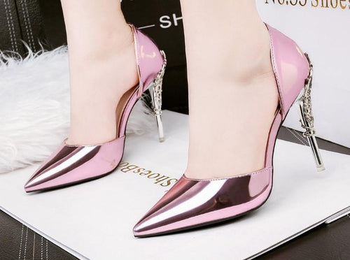 Luxury Metal Flowers Heels (More Colors Available)