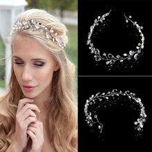 Vintage Faux Crystal Pearl Tiara Drop Headband