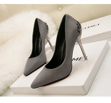 Metal Design Heels (More Colors Available)