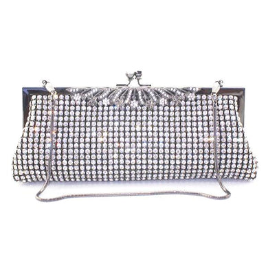 Crystal Black Metal Frame Purse - Rated Star