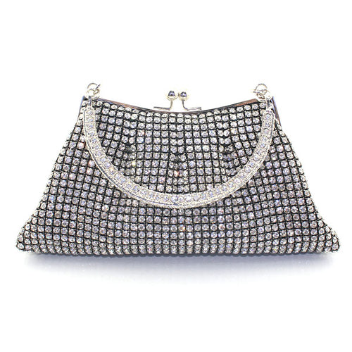 Crystal Metal Frame Purse (More Colors Available)
