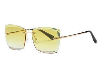Square Rimless Sunglasses - Rated Star