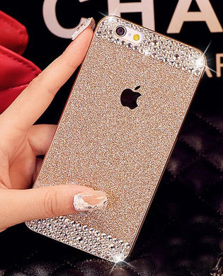Glitter Rhinestone Case for iphone4S 5S 6P 7G 8P for SamsungS3 S4 S5 S6 S6E+ S7E Case (More Colors Available) - Rated Star