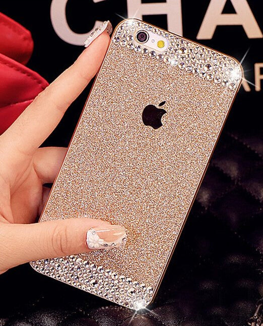 Glitter Rhinestone Case for iphone4S 5S 6P 7G 8P for SamsungS3 S4 S5 S6 S6E+ S7E Case (More Colors Available)