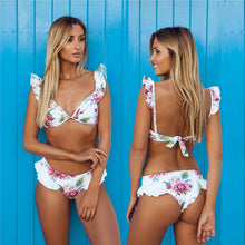 Cute Ruffle Shoulder Bikini (More Colors Available) - Rated Star