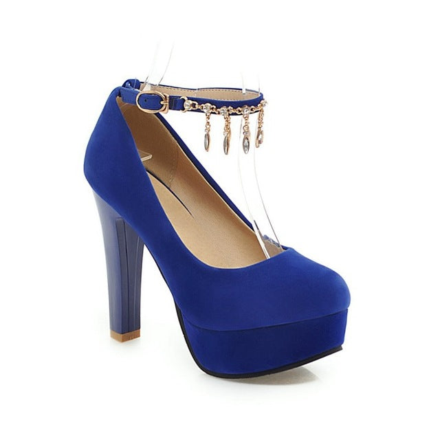 Metallic Chains High Heels (More Colors Available)