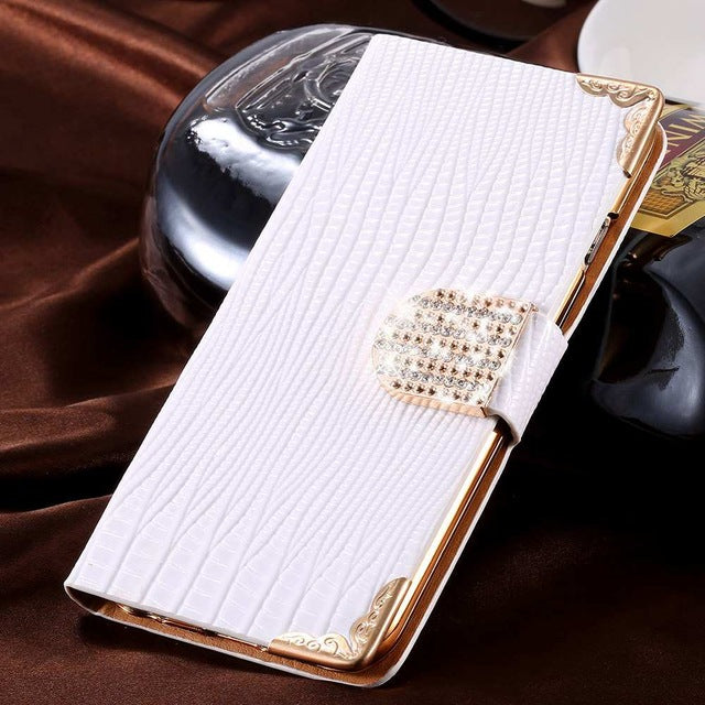 Glitter Diamond Luxury Rhinestone Leather Wallet Flip Case For iPhone 7 8 X Case (More Colors Available)