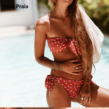 Polka Dot Bandeau Bikini (More Colors Available)
