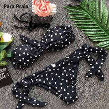 Polka Dot Bandeau Bikini (More Colors Available) - Rated Star