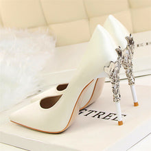 Metal Carved Pointed Toe Heels (More Colors Available) - Rated Star