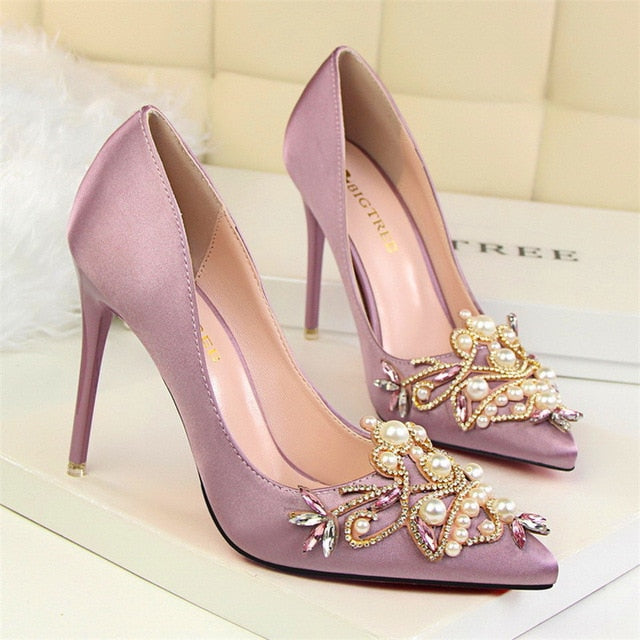 Tiffany Pearl Heels (More Colors Available) - Rated Star