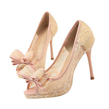 Natalia Bow Lace Heels (More Colors Available) - Rated Star