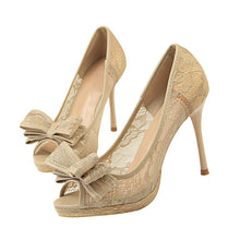 Natalia Bow Lace Heels (More Colors Available)