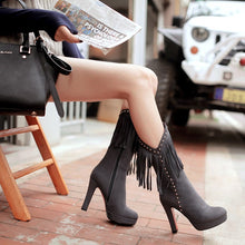 Tassel High Heel Boots (More Colors Available)