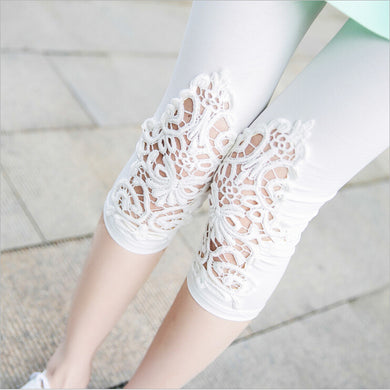 Lace Decoration Leggings (More Colors Available) - Rated Star
