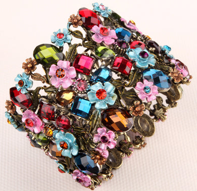 Stretch Flower Bracelet Gold And Silver Plated (More Colors Available) - Rated Star
