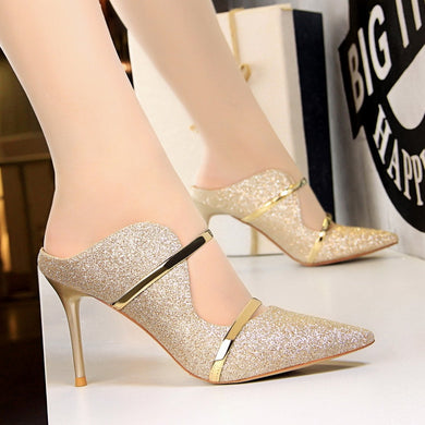 Svelt Gold Heels (More Colors Available) - Rated Star