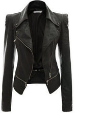 Moto Faux Leather Zipper Jacket (More Colors Available) - Rated Star