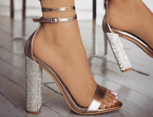 Kary Rhinestone Heels (More Colors Available) - Rated Star