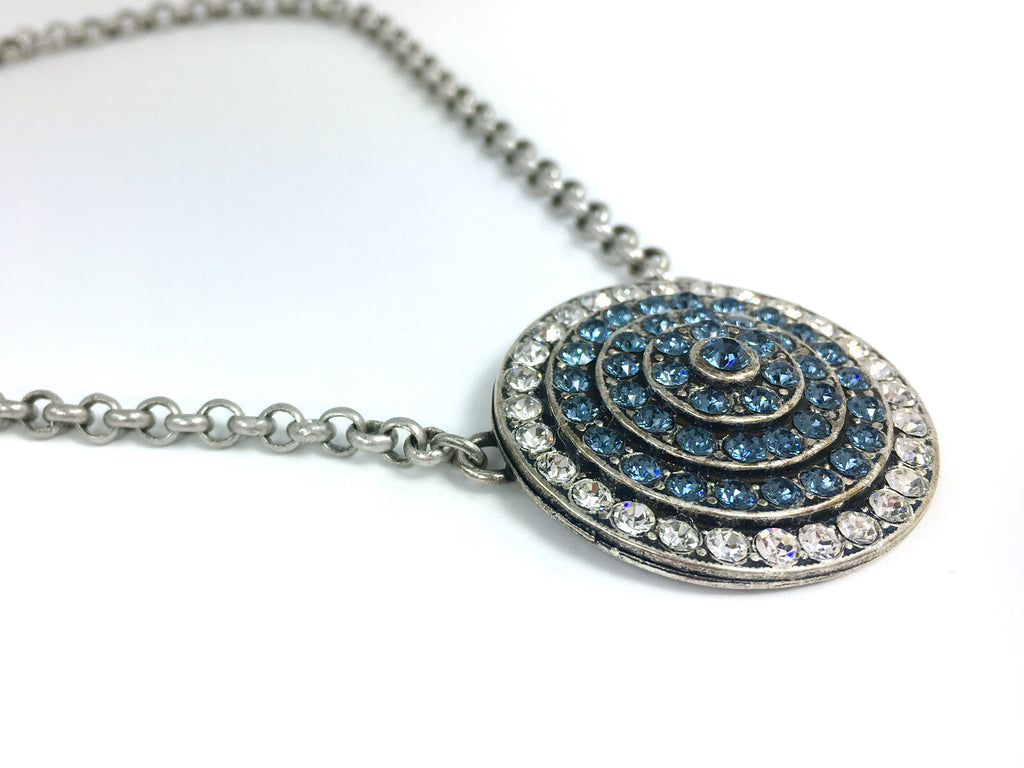 MESA Jewelry Vault Collection Medallion Necklace Swarovski Crystal