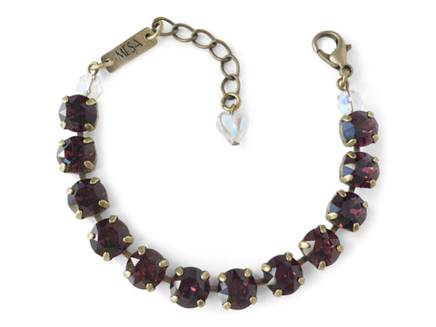 Burgundy Bracelet, Antique Brass