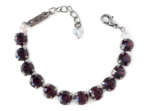 Burgundy Bracelet, Antique Silver