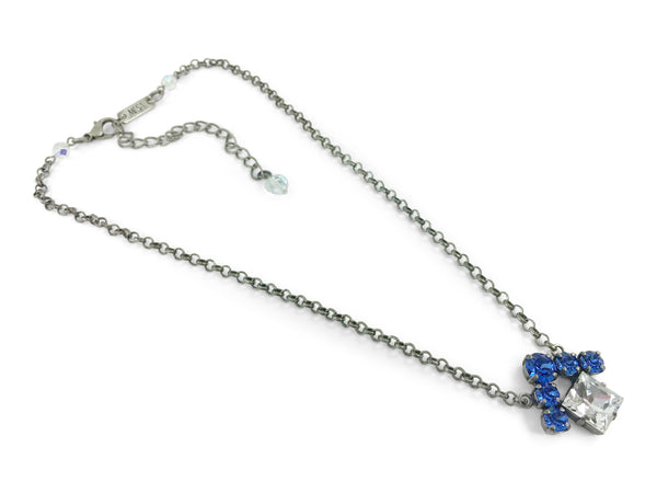 HOUSE Necklace, Antique Silver and Sapphire