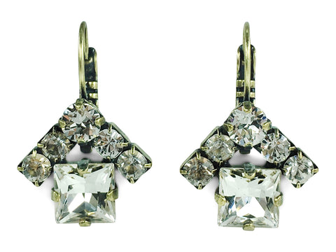 Jewelry for Real Estate Professionals. The House Earrings from Mesa Jewelry. Real Estate Jewelry collection featuring Swarovski crystal clear crystals.