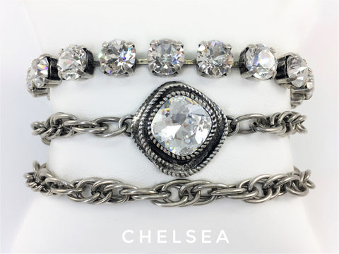Jewelry for Real Estate Professionals. Bracelet from Mesa Jewelry's Real Estate fashion collection featuring Swarovski crystals.