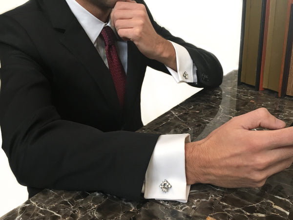 Jewelry cufflinks for Real Estate Professionals. The House cufflinks from Mesa Jewelry and Real estate Agent. Men's collection featuring Swarovski crystals.