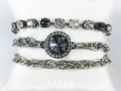 Jewelry for Real Estate Professionals. Wrap Bracelet from Mesa Jewelry's Real Estate fashion collection featuring Swarovski crystals.