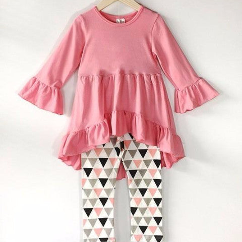 Toddler Ruffle Triangle Set