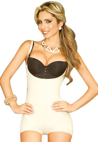 Full top and Half bottom body shaper with LOW CUT FRONT