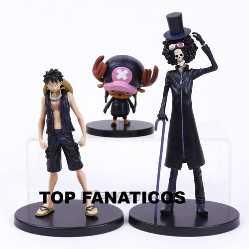 One Piece Film Gold Monkey D Luffy, Tony Tony, Chopper Brook KIT COM 3 PEÇAS - Top Fanaticos