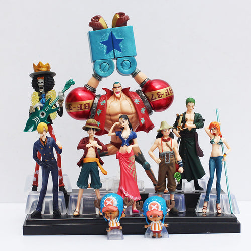 Kit com 10 peças  One Piece  luffy, nami, roronoa ,zoro, hand-done, dolls - Top Fanaticos