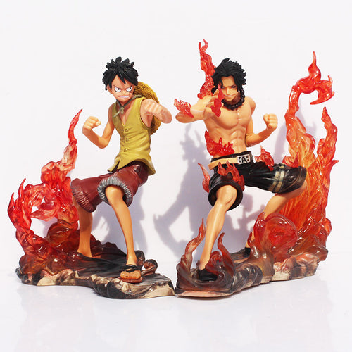 2 peças One Piece DX Luffy VS Ace - Top Fanaticos
