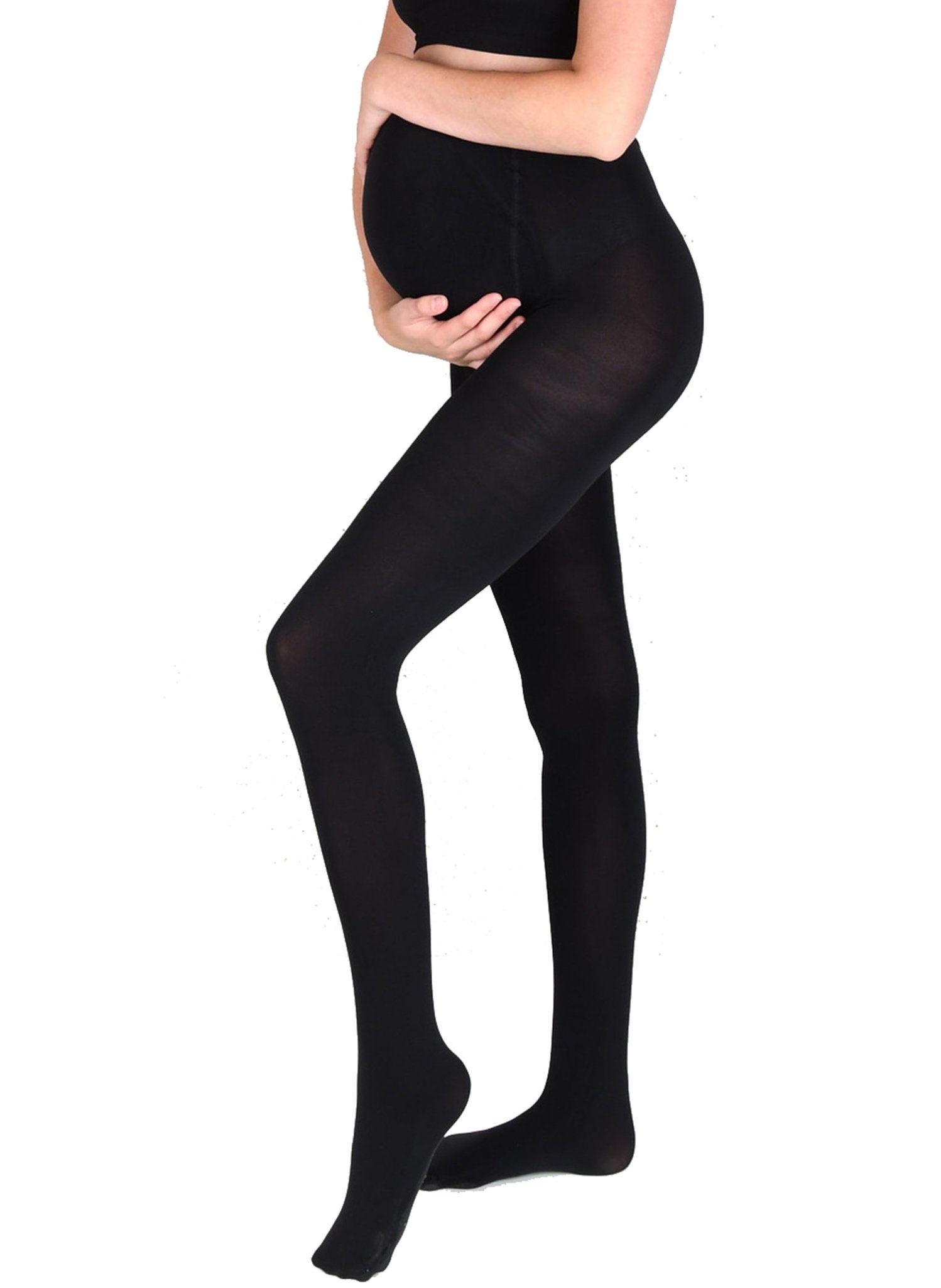 100Den Maternity Tights - Black - Mums and Bumps