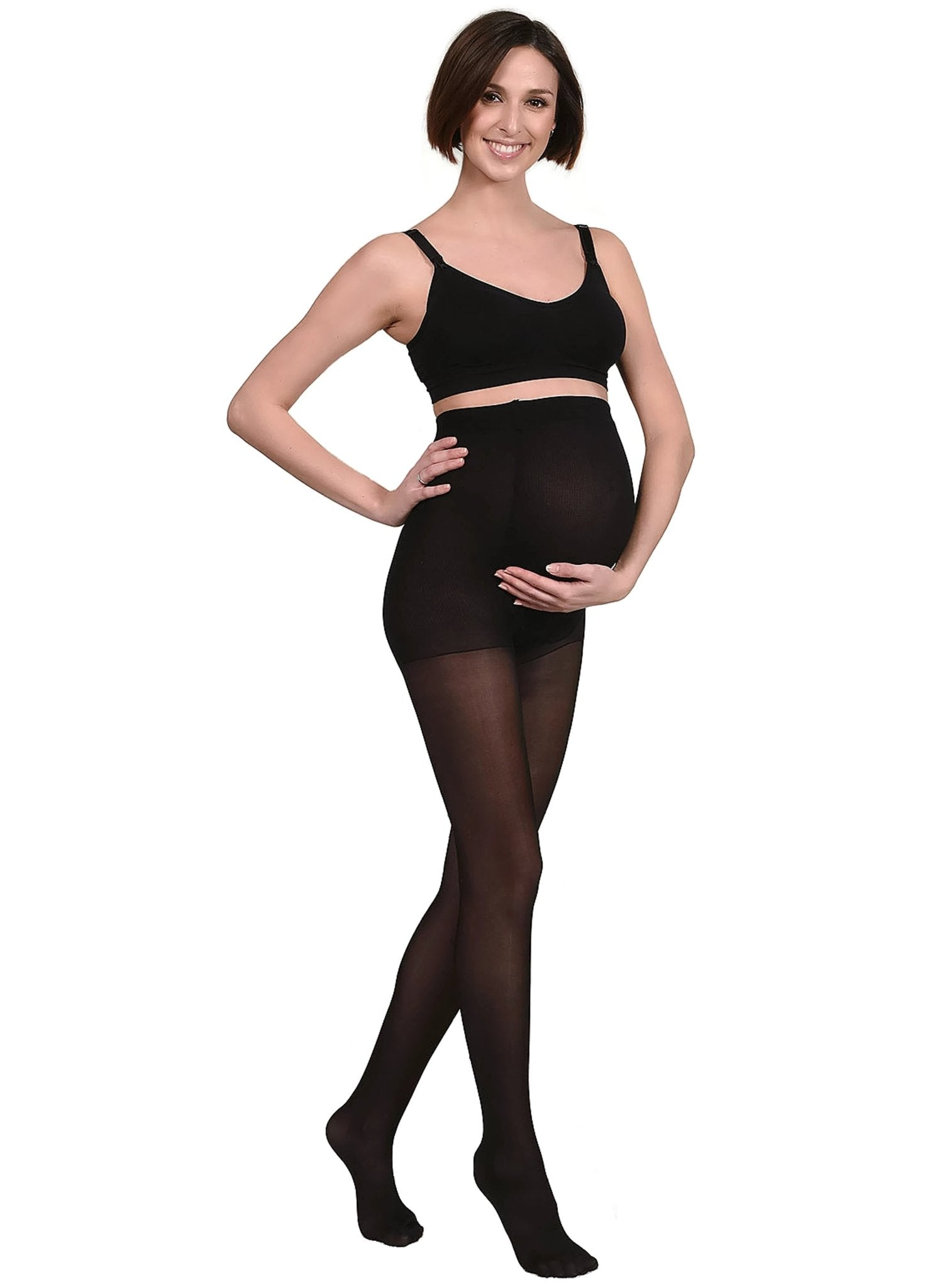 40Den Maternity Tights - Black - Mums and Bumps