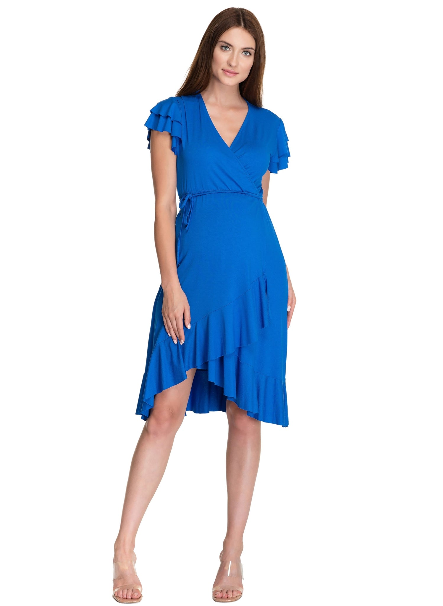 Daisy Maternity Dress - Blue Pacific