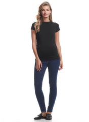 Organic Cotton Maternity Tee - Black