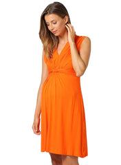 Papaver Maternity Dress - Bright Orange