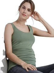The Maternity Tank - Dusted Khaki
