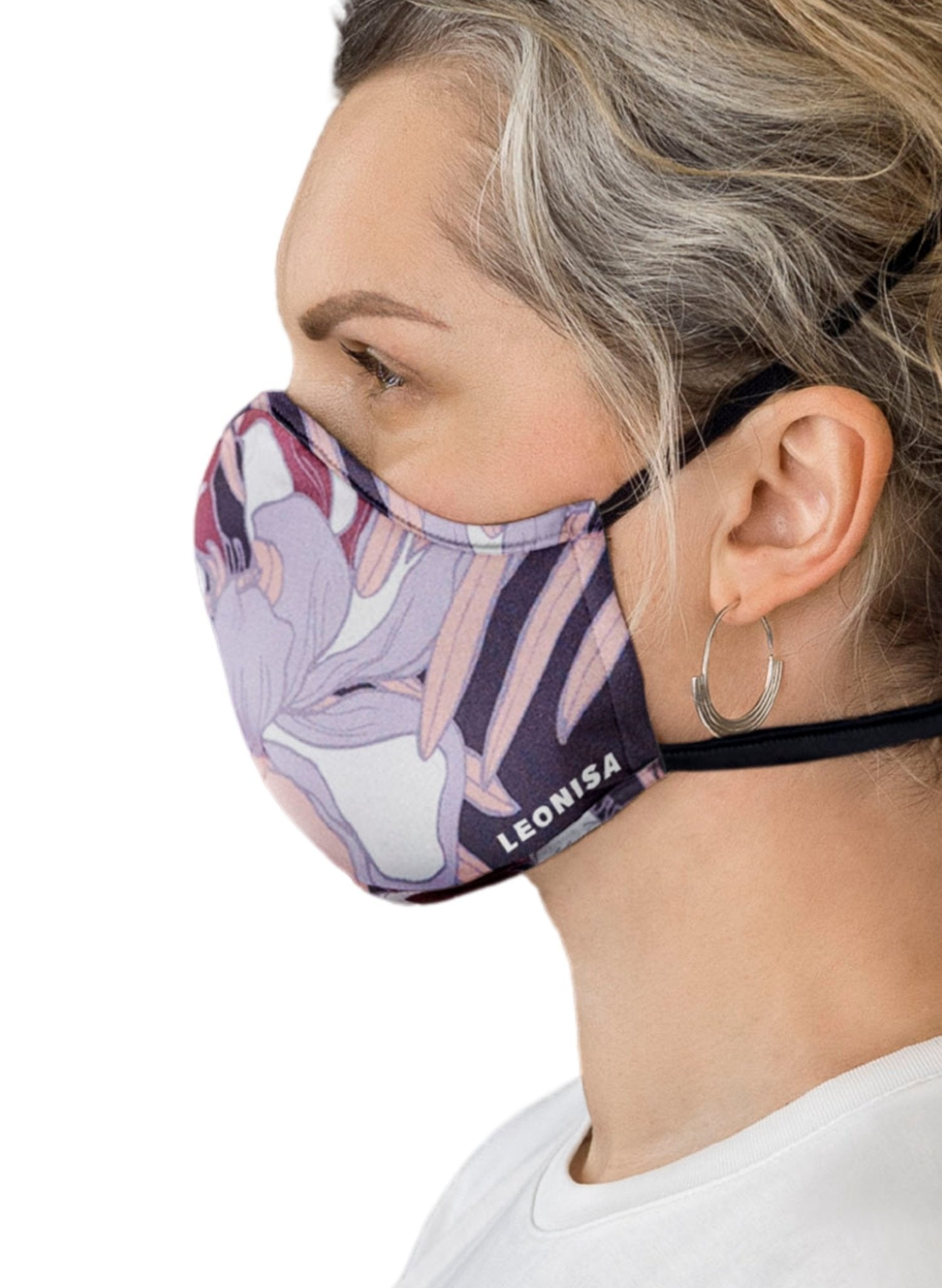 Adult's Face Mask – Triple-Layered Protection, Anti-Fluid and Antibacterial Technology - Purple - Mums and Bumps