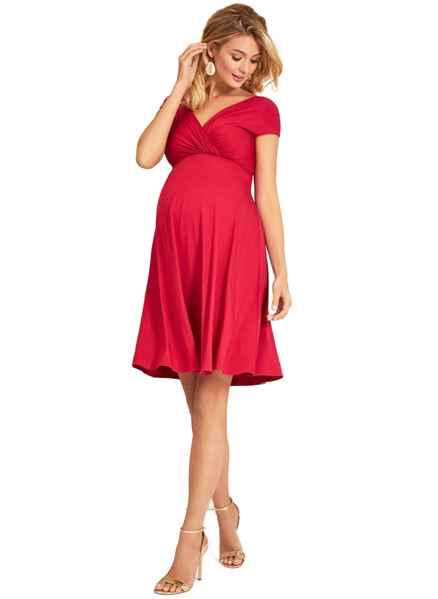 Alessandra Maternity Dress - Bright Rose - Mums and Bumps