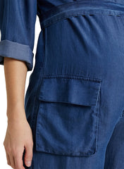 Amelia Maternity Jumpsuit - Jeans Blue - Mums and Bumps
