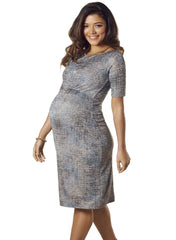 Anna Shift Maternity Dress - Bronze Blue - Mums and Bumps