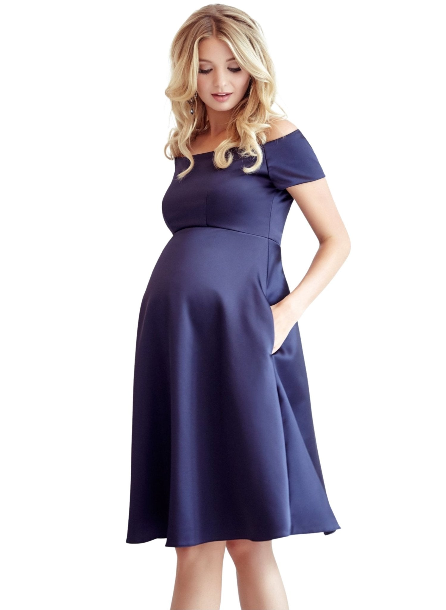 Aria Maternity Dress - Midnight Blue - Mums and Bumps